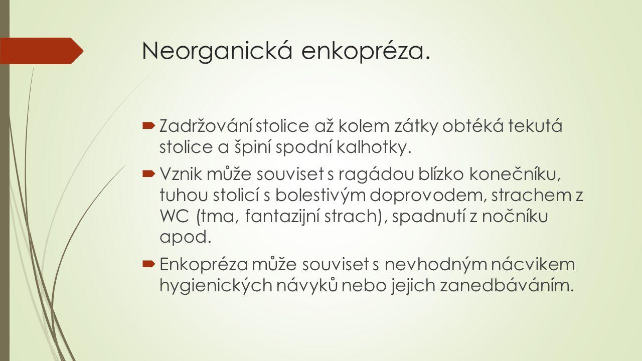 Neorganická enkopréza.