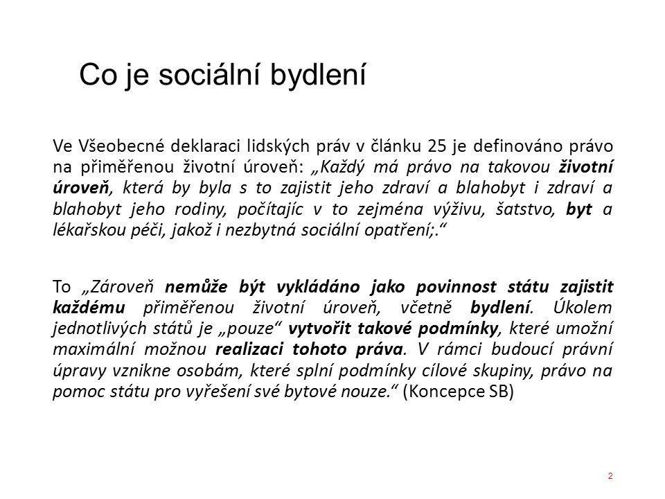 Co je sociální bydlení.Existují zcela různé přístupy napříč Evropou.