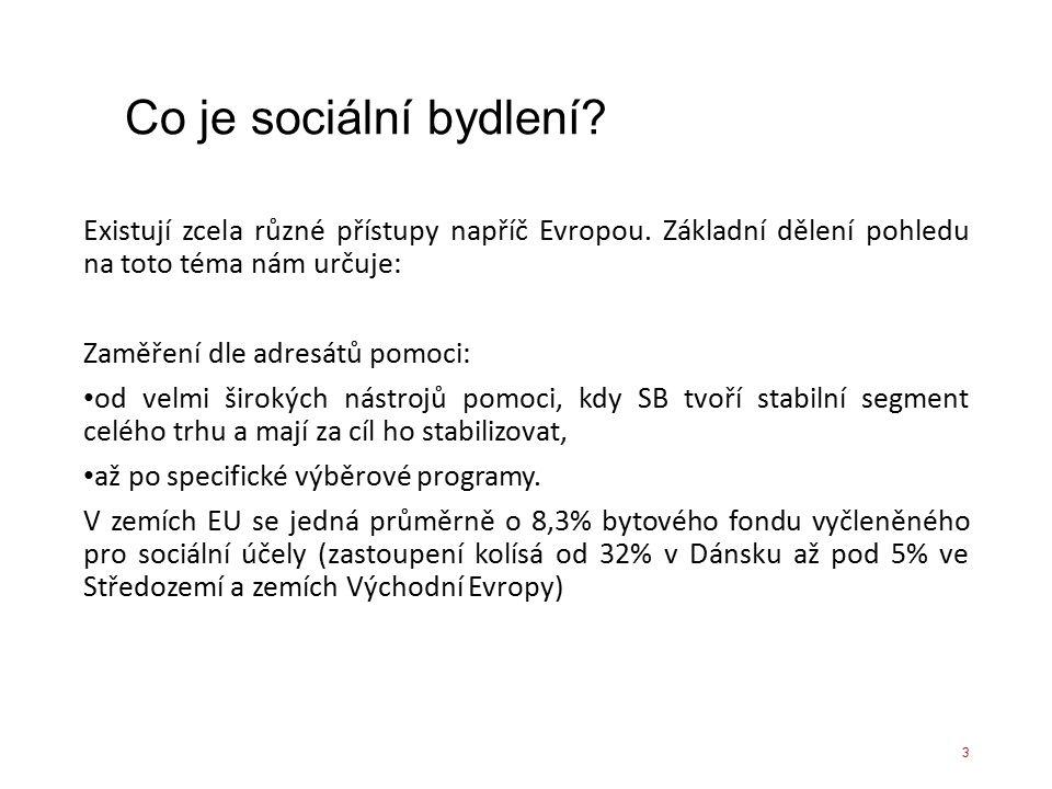 Co je sociální bydlení? Existují zcela různé přístupy napříč Evropou. Základní dělení pohledu na toto téma nám určuje: Zaměření dle adresátů pomoci: o