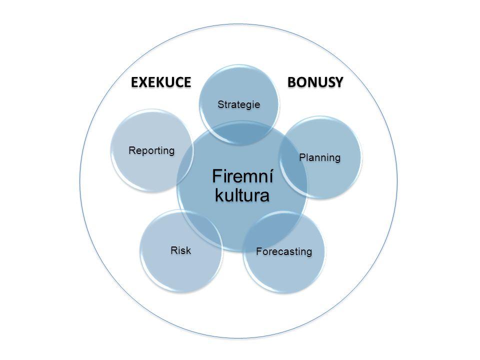 Firemní kultura Strategie PlanningForecastingRiskReporting EXEKUCE BONUSY
