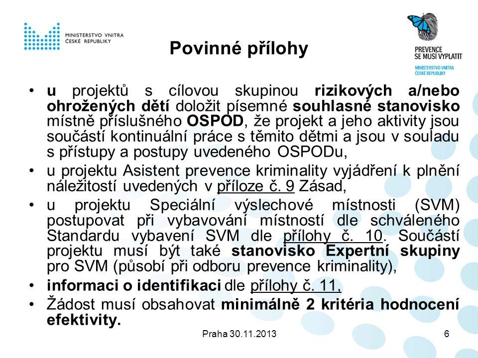 Praha 30.11.201317 Příloha č.