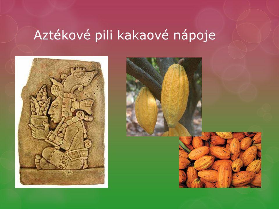 Aztékové pili kakaové nápoje