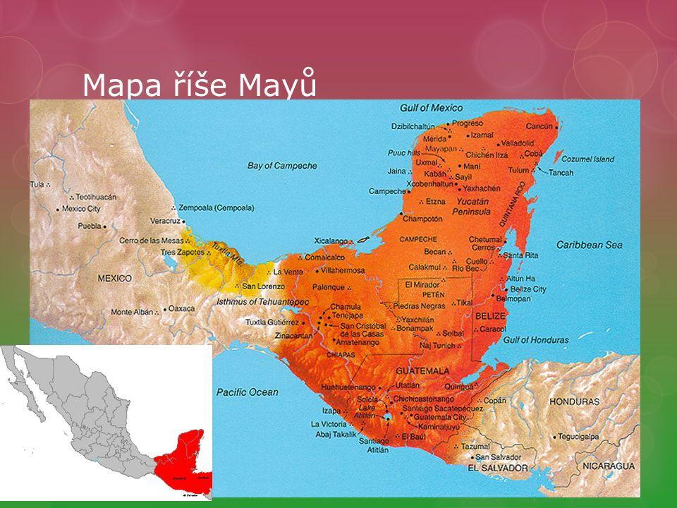 Mapa říše Mayů