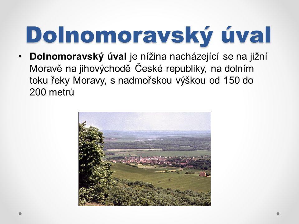 Dolnomoravský úval Dolnomoravský úval je nížina nacházející se na jižní Moravě na jihovýchodě České republiky, na dolním toku řeky Moravy, s nadmořskou výškou od 150 do 200 metrů