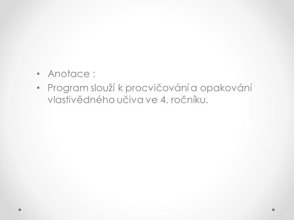Použitá literatura: Vlastivěda 4 ( učebnice pro 4.ročník základní školy) Poznáváme naši vlast (Nová škola) http://www.receptyonline.cz/data/pics/encyklopedie- zeleniny/kukurice.jpg http://botanika.wendys.cz/cherbar/prew/q5 57.jpg http://www.hokr.cz/var/www/hokr.cz/files/image/Zemedelske- komodity/pole_kukurice.jpg http://svornost.com/wp-content/uploads/28.8.2010-Rip-00- 150x150.jpg http://mw2.google.com/mw- panoramio/photos/medium/32762659.jpg http://www.mezistromy.cz/imgcache/--userdata--fotografie--prirodni- lesni-oblasti--PLO-35-jihomoravske-uvaly--pr_1407_v_720_540_0_85.jpg http://upload.wikimedia.org/wikipedia/commons/thumb/4/46/Dab ao.jpg/260px-Dabao.jpg