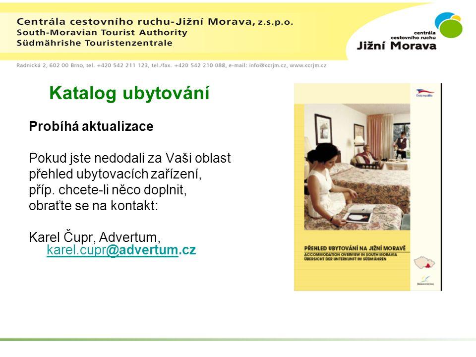 Katalog ubytování Probíhá aktualizace Pokud jste nedodali za Vaši oblast přehled ubytovacích zařízení, příp.