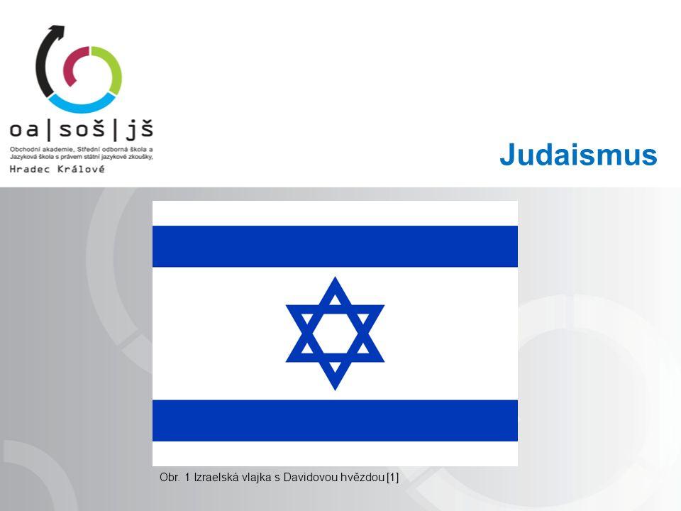 Judaismus Obr. 1 Izraelská vlajka s Davidovou hvězdou [1]