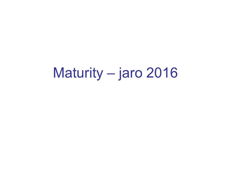 Maturity – jaro 2016