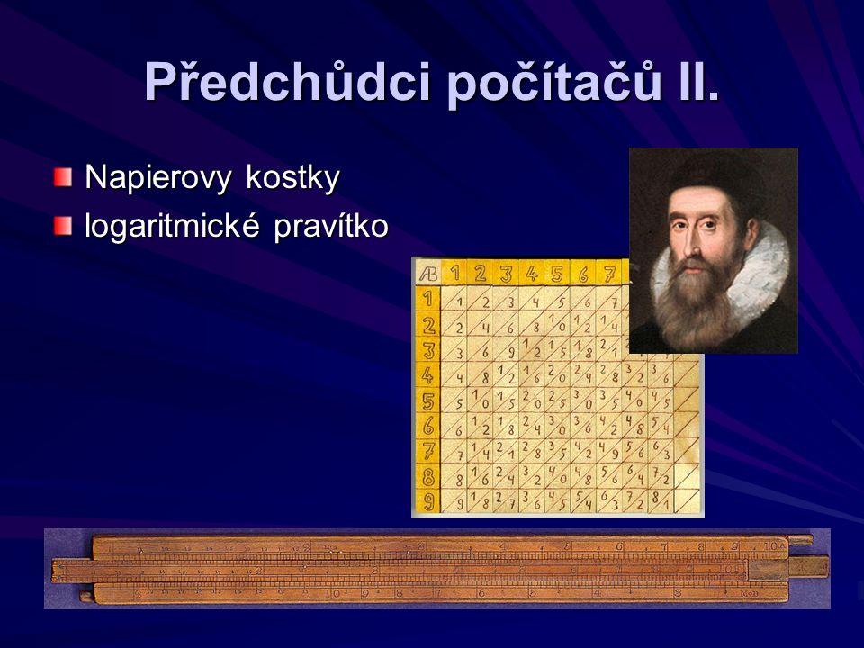 První mechan.kalkulátory I.