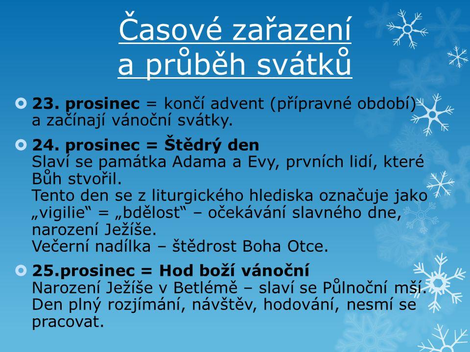 Časové zařazení a průběh svátků  26.