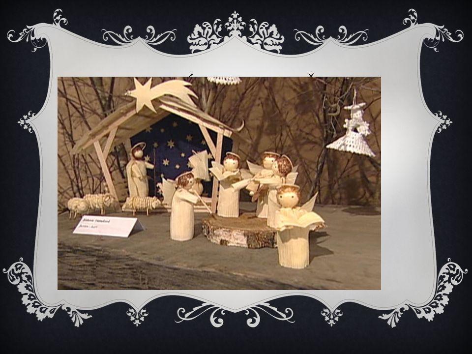 BETLÉM, JESLIČKY  František z Assisi (13.stol.) chtěl ukázat město Betlém i ostatním – vyrobil model  Smrčí a sníh x palmy ??  Nejprve v kostelech,