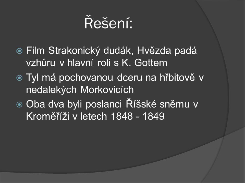 Řešení:  Film Strakonický dudák, Hvězda padá vzhůru v hlavní roli s K.