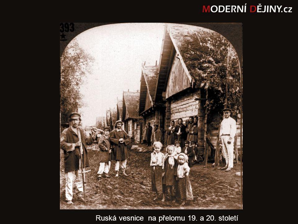 Ruská vesnice na přelomu 19. a 20. století