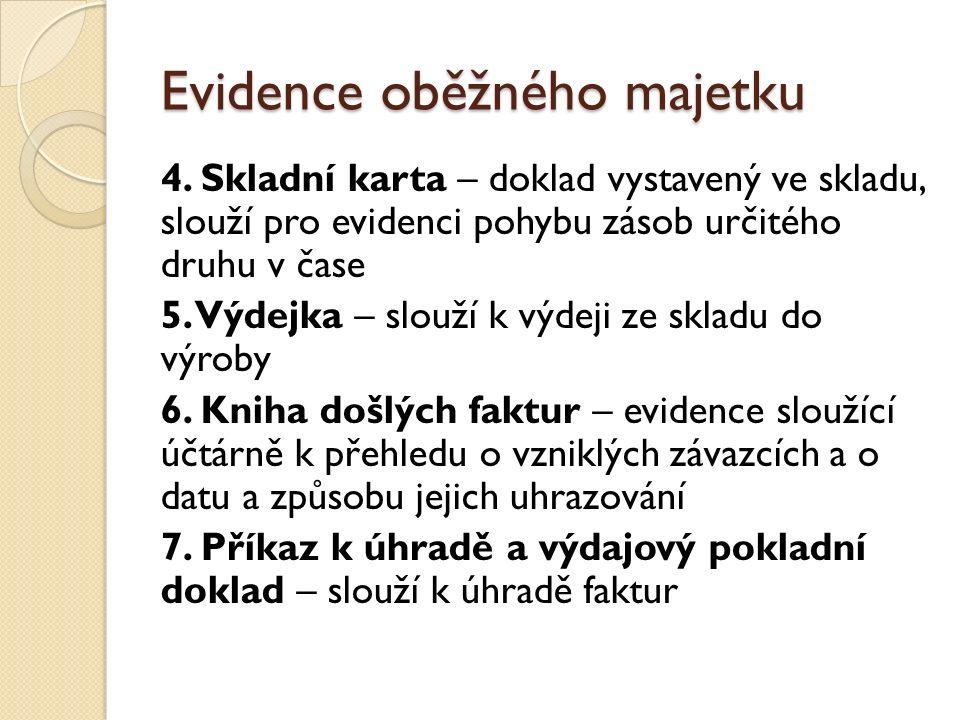 Evidence oběžného majetku 4.