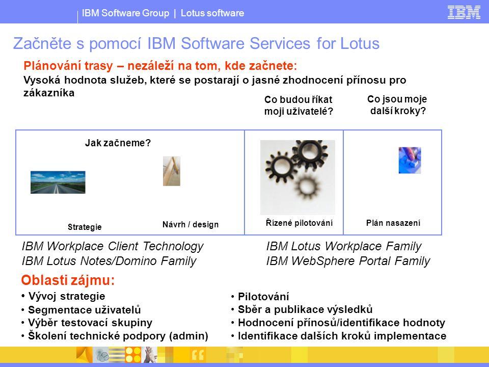 IBM Software Group | Lotus software Začněte s pomocí IBM Software Services for Lotus Jak začneme.
