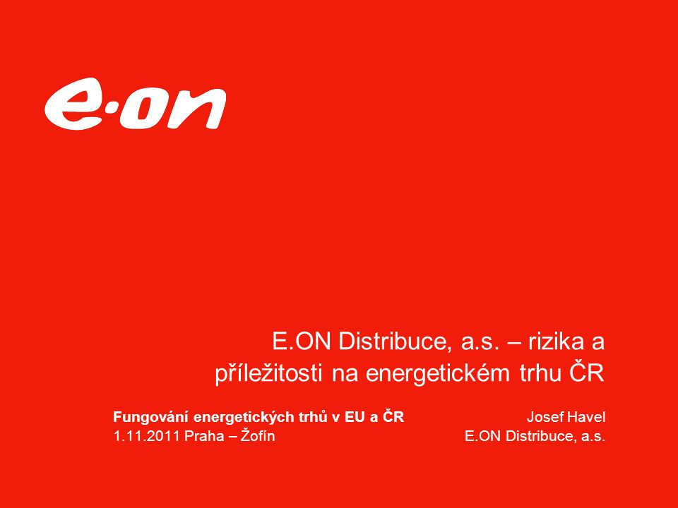 E.ON Distribuce, a.s.
