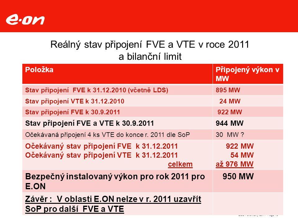 Page 13ECD Parametry 2011 Reálný stav připojení FVE a VTE v roce 2011 a bilanční limit PoložkaPřipojený výkon v MW Stav připojení FVE k 31.12.2010 (včetně LDS)895 MW Stav připojení VTE k 31.12.2010 24 MW Stav připojení FVE k 30.9.2011 922 MW Stav připojení FVE a VTE k 30.9.2011944 MW Očekávaná připojení 4 ks VTE do konce r.