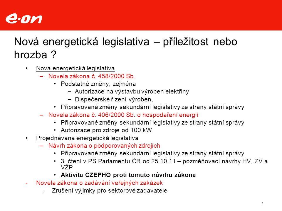 8 Nová energetická legislativa – příležitost nebo hrozba .