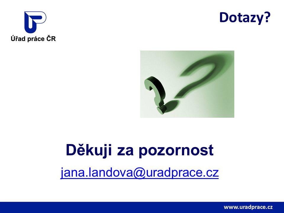 Dotazy? Děkuji za pozornost jana.landova@uradprace.cz