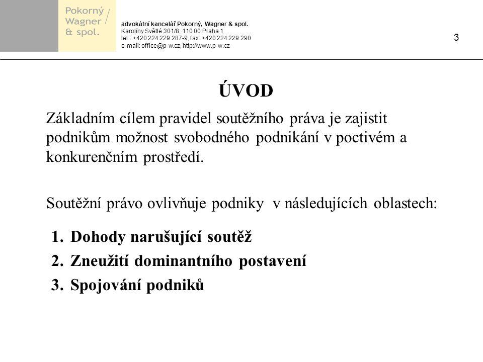advokátní kancelář Pokorný, Wagner & spol.