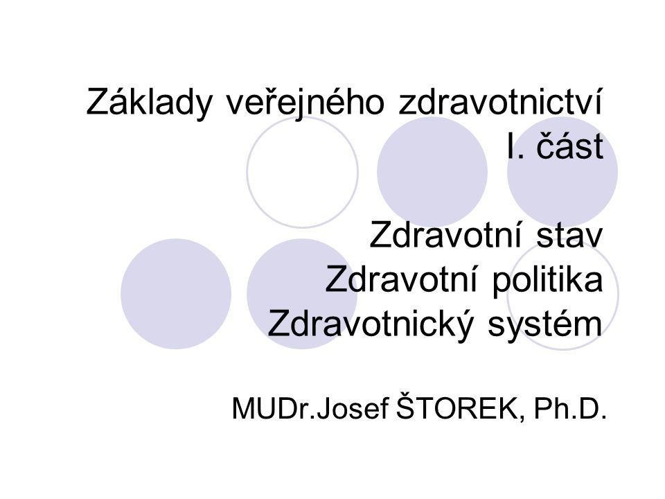 Základy veřejného zdravotnictví I.