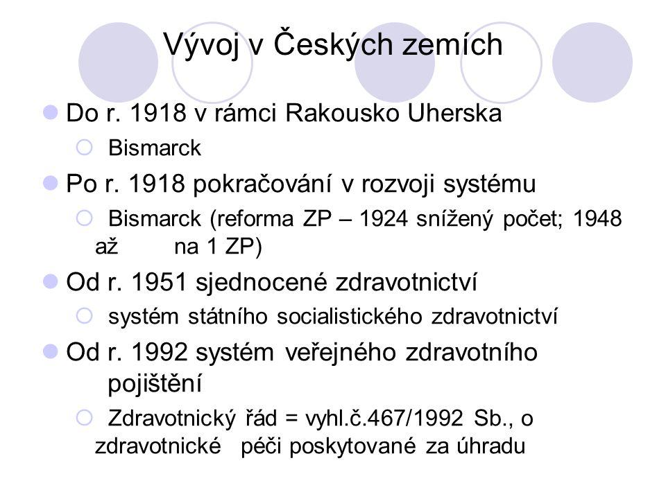 Vývoj v Českých zemích Do r. 1918 v rámci Rakousko Uherska  Bismarck Po r.