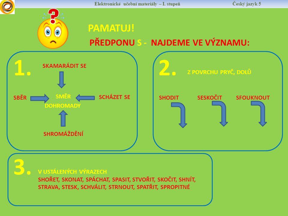 Elektronické učební materiály – I.stupeň Český jazyk 5 PAMATUJ.