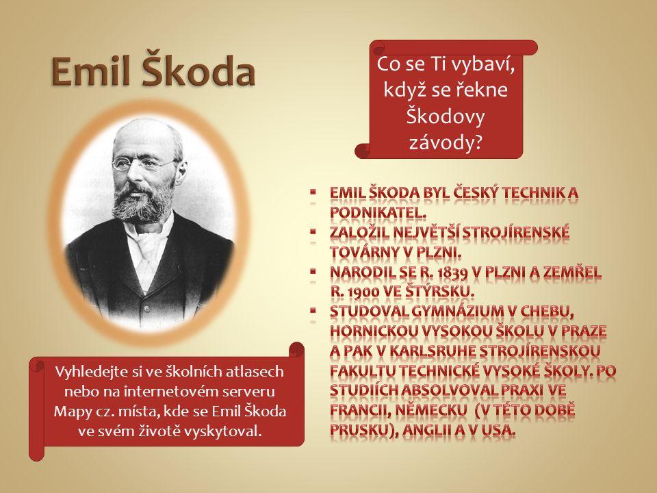  V r.1866 nastoupil jako inženýr do strojíren hraběte Valdštejna v Plzni.