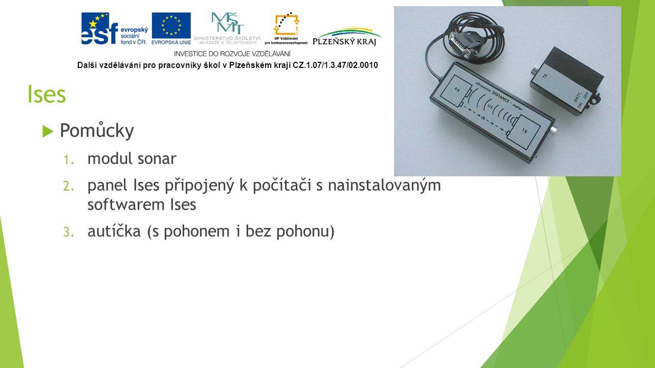 Ises  Pomůcky 1. modul sonar 2.