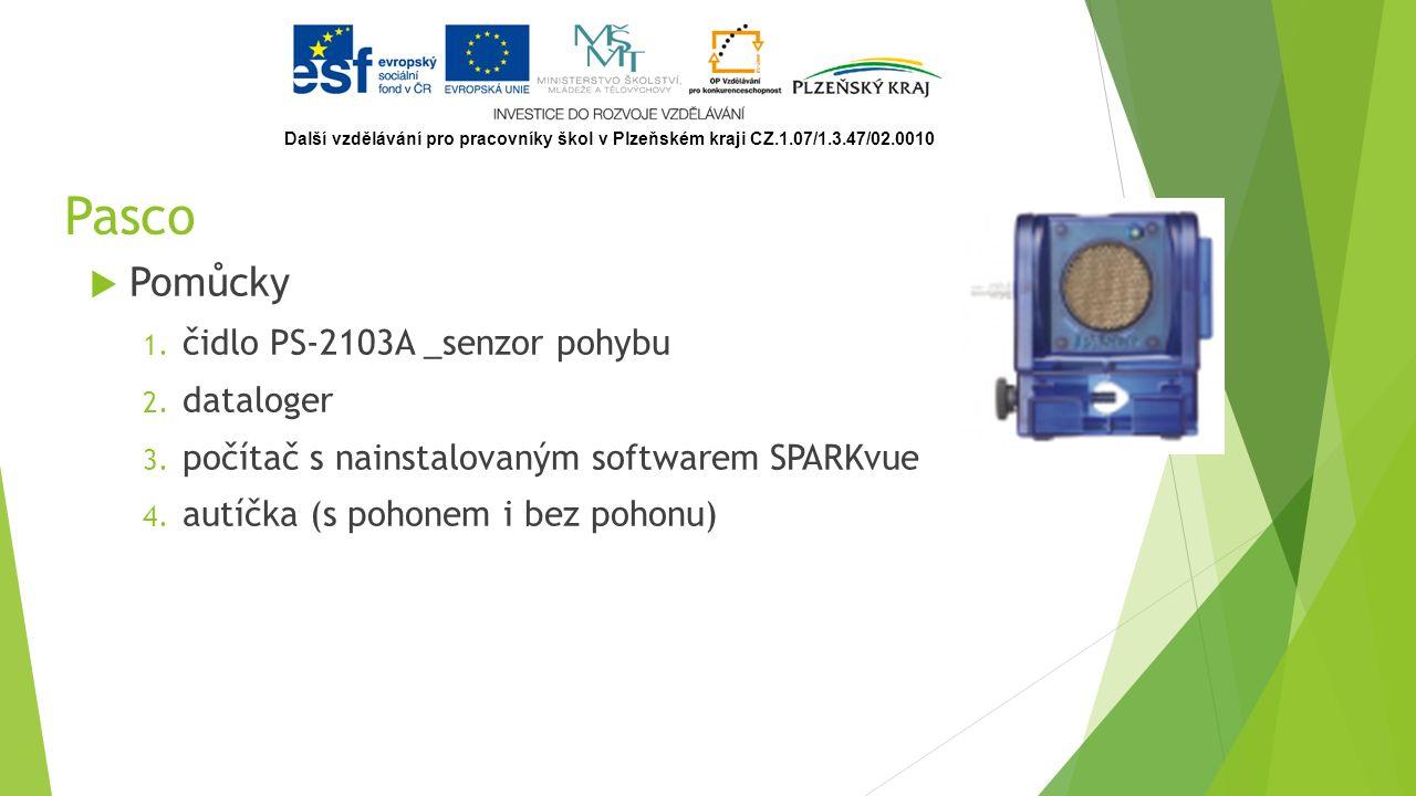 Pasco  Pomůcky 1. čidlo PS-2103A _senzor pohybu 2.