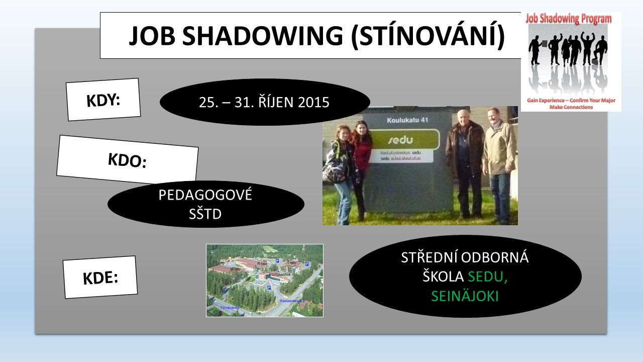 JOB SHADOWING FINLAND 2015 Welcome to Finland!