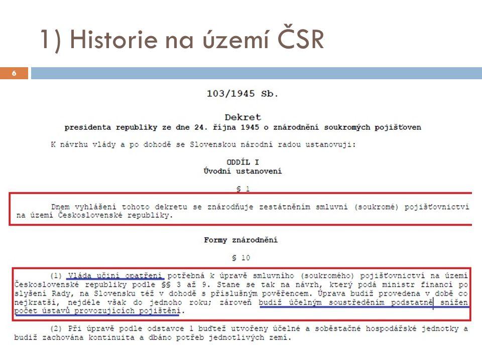 1) Historie na území ČSR 6