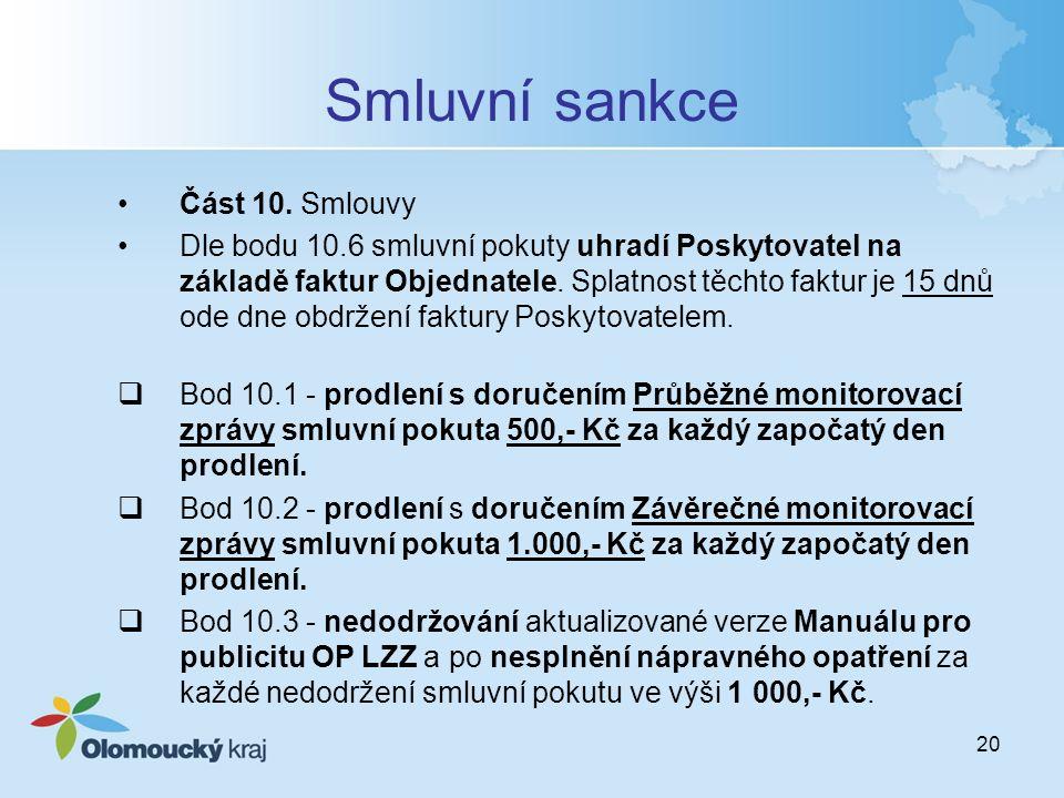 20 Smluvní sankce Část 10.