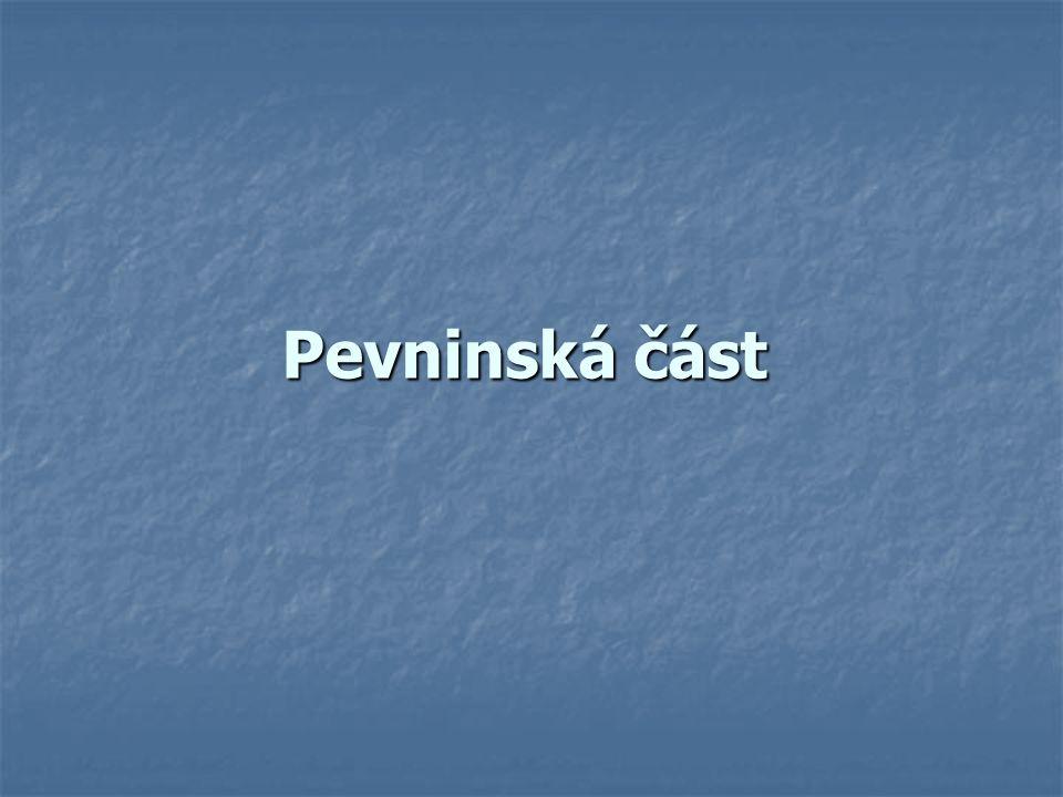 Pevninská část