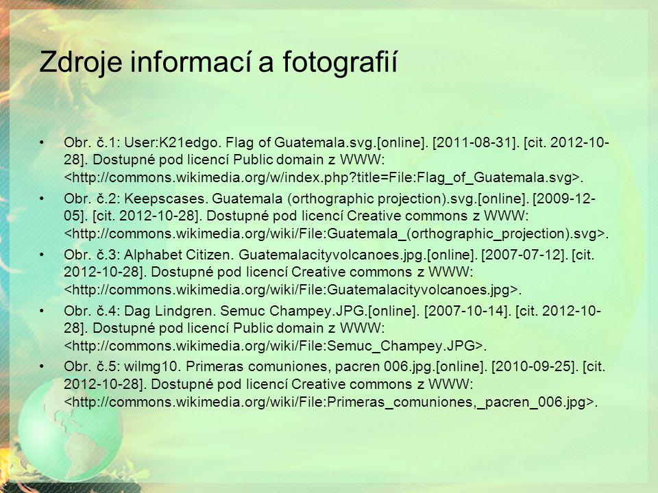 Zdroje informací a fotografií Obr.č.1: User:K21edgo.