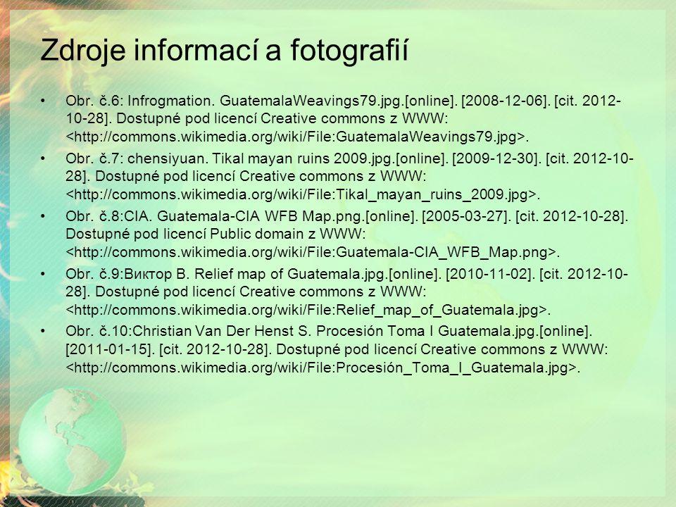 Zdroje informací a fotografií Obr.č.6: Infrogmation.