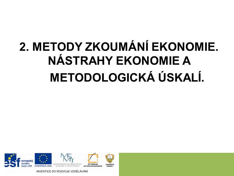 Pozitivní – Normativní ekonomie Pozitivní – popisuje fakta a chování v ekonomice.