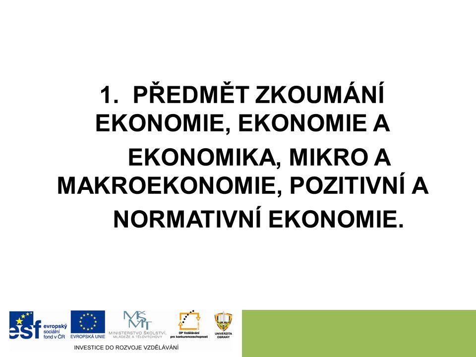Literatura: Základní: MACÁKOVÁ, L. aj. Mikroekonomie – základní kurs.