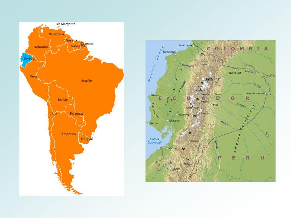 Ekvádor Tato oblast je zaostalá – závislost na vývozu surovin Pěstují se zde banány a kakao Velmi důležitá je i těžba ropy