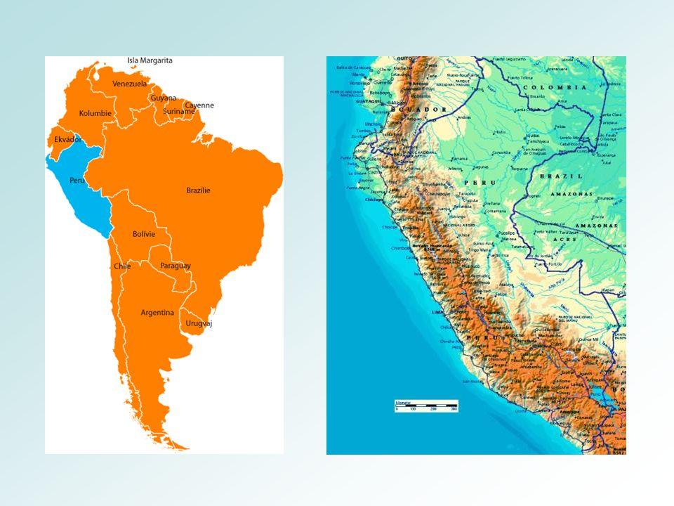 Peru Pěstování plodin okolo řek Hlavní obchodní plodiny: cukrová třtina, bavlník Bohatá naleziště nerostných surovin (měď,stříbro, železo, zlato, ropa, uhlí,…) Jezero Titicaca – nejvýše položená vodní nádrž s pravidelnou lodní dopravou