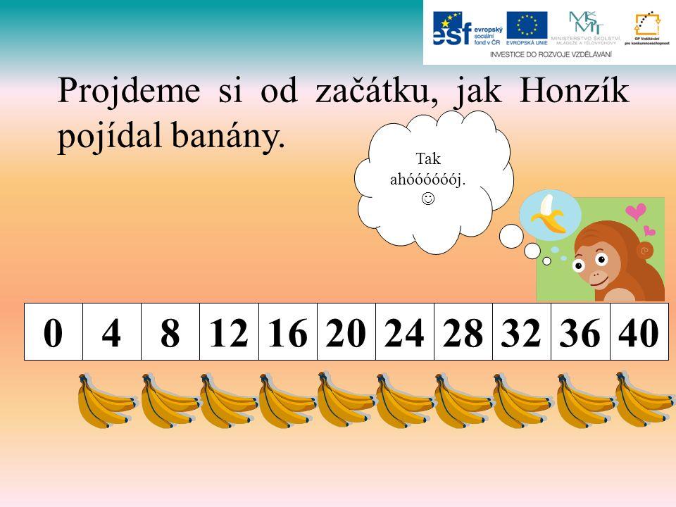 Projdeme si od začátku, jak Honzík pojídal banány. 0481216202428323640 Tak ahóóóóóój.