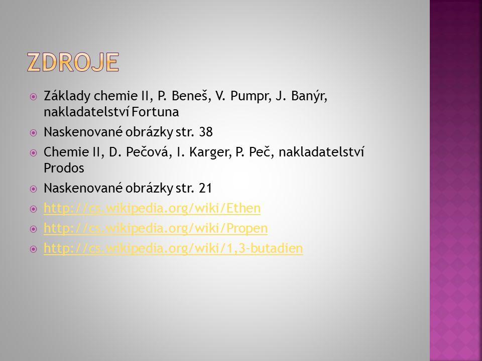  Základy chemie II, P. Beneš, V. Pumpr, J.