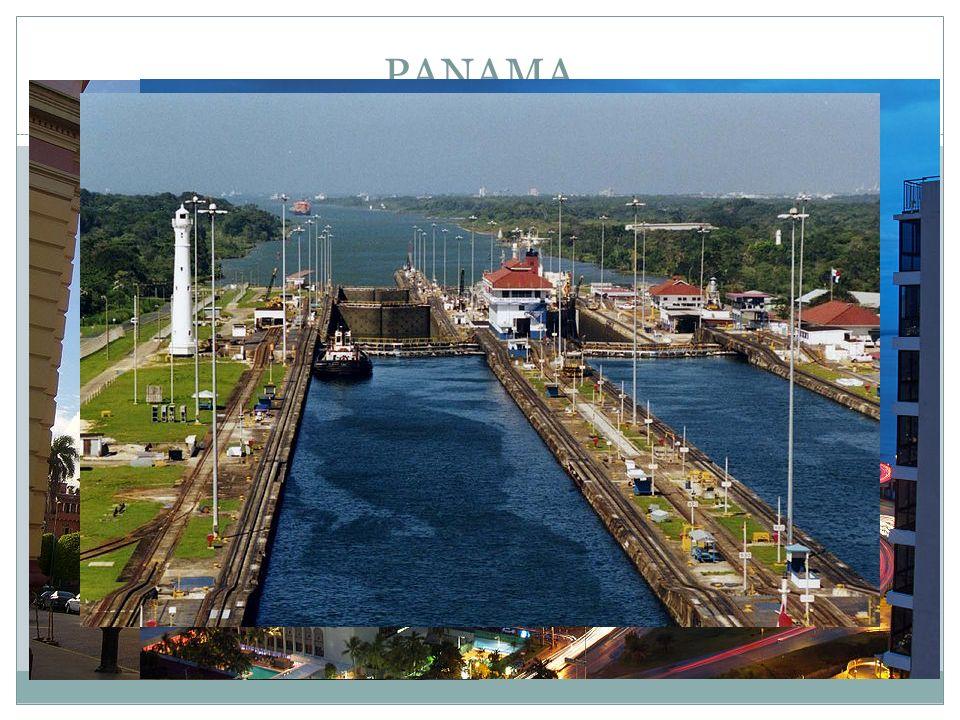 PANAMA Hlavní město : Panama Republika Jazyk – španělština Vývoz : banány, garnáti, káva, oděvy, ryby Další příjmy z turistiky a poplatků za průjezd Panamským průplavem