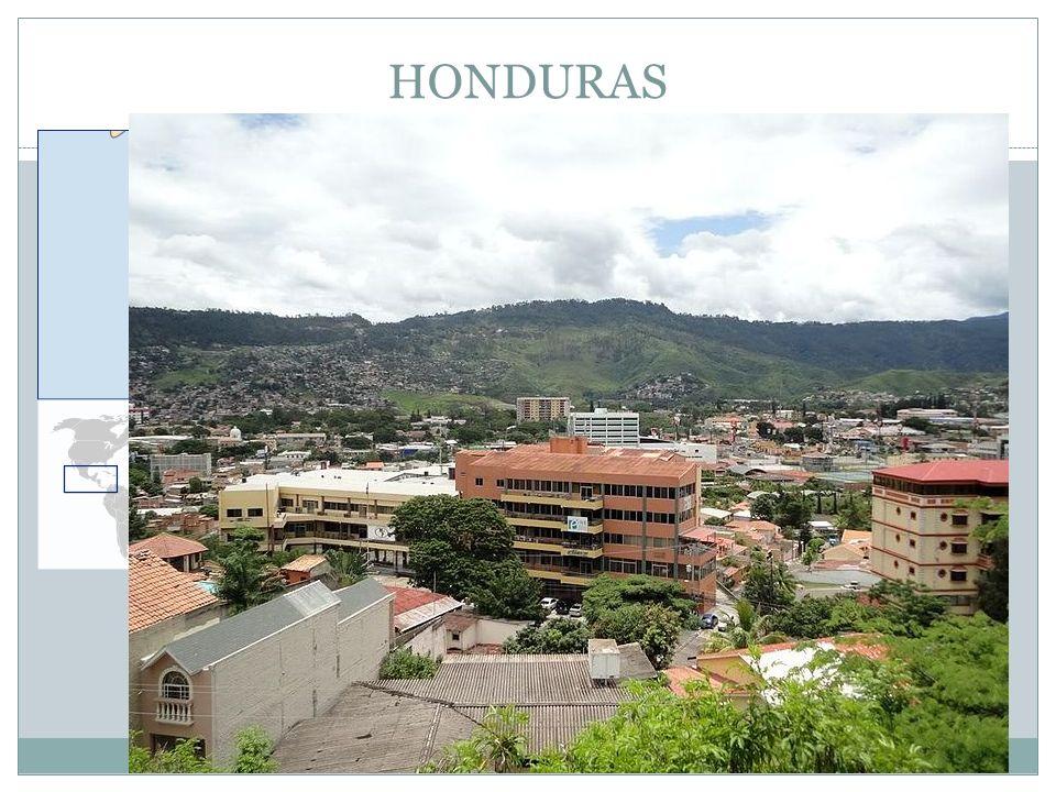 HONDURAS Hlavní město : Tegucigalpa Republika Jazyk – španělština Vývoz : káva, banány, garnáti a humři, oděvy, zlato
