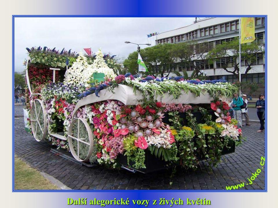 Alegorické vozy z živých květin
