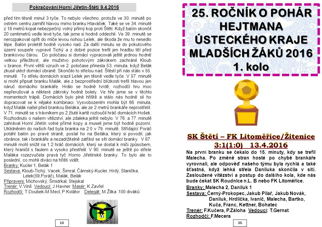 1035 Pokračování Horní Jiřetín-Štětí 9.4.2016 před tím těsně minul 3 tyče.