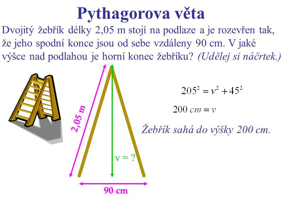 90 cm 2,05 m v = .