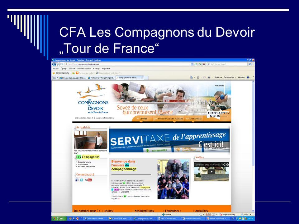 """CFA Les Compagnons du Devoir """"Tour de France"""""""