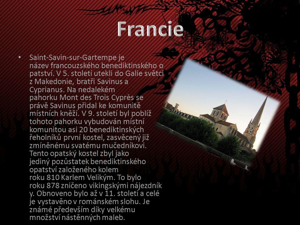 Saint-Savin-sur-Gartempe je název francouzského benediktinského o patství.