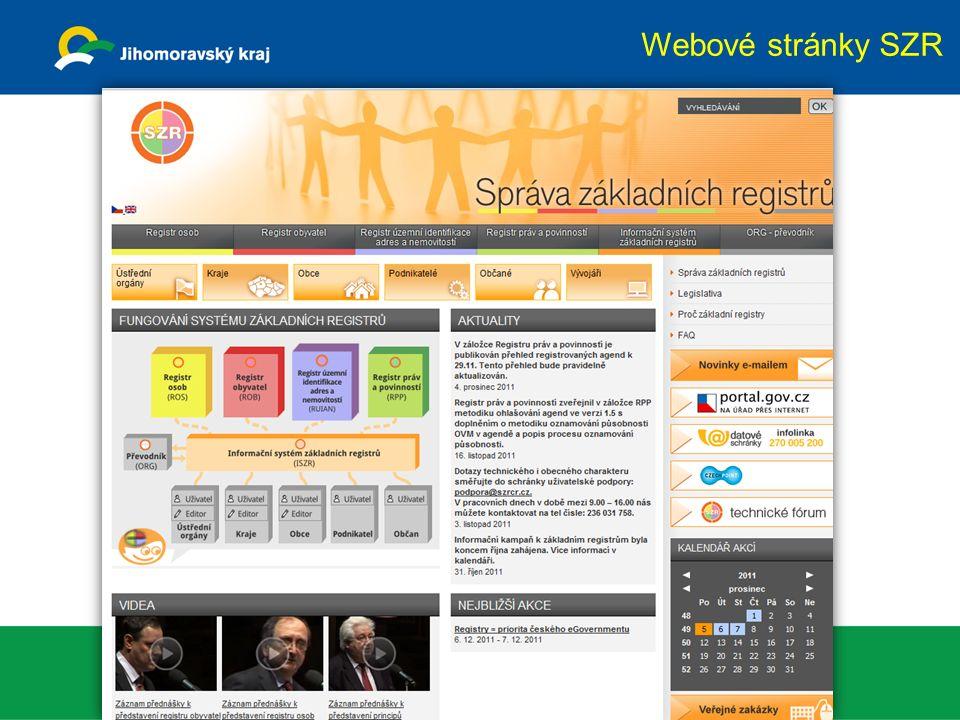 Webové stránky SZR